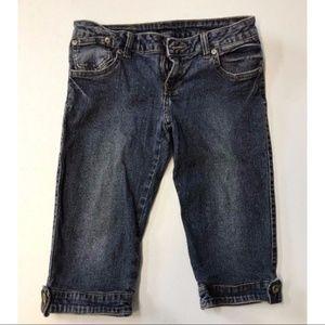 JAGTHUG denim capri shorts Bermuda 25 KNEE COTTON